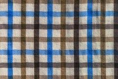 W kratkę szkocka krata tekstylnego materiału wzoru tekstura Zdjęcia Royalty Free