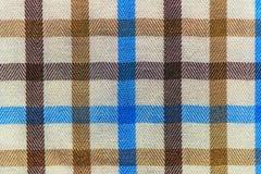W kratkę szkocka krata tekstylnego materiału wzoru tekstura Zdjęcie Stock
