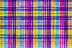 W kratkę tkaniny tablecloth Zdjęcia Royalty Free