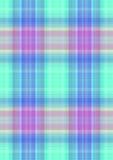 W kratkę zielonawy tło z purpurowymi i błękitnymi lampasami Fotografia Stock