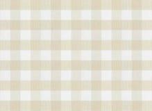 W kratkę brown tablecloth lub tkaniny tekstura Obrazy Stock