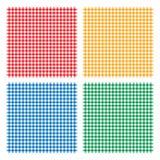 W kratkę pyknicznego kulinarnego tablecloth bezszwowy wzór Obrazy Stock