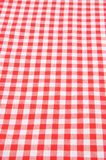 w kratkę tablecloth Obraz Royalty Free