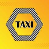 W kratkę taxi tło z tekstem w centrum Zdjęcia Stock