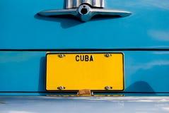 W Kuba klasyczny Amerykański Samochód Fotografia Royalty Free