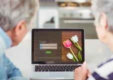 W kuchni z laptopem Nazwa użytkownika ekran - username & hasło ilustracji