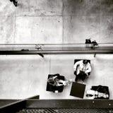 W kulturalnym centre Artystyczny spojrzenie w czarny i biały Zdjęcia Royalty Free