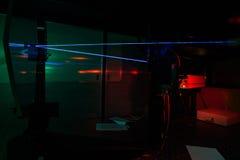 W kwantowym optyki lab Obrazy Royalty Free
