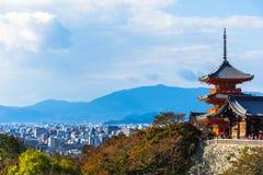 W Kyoto Kiyomizu-dera Świątynia, Japonia Zdjęcie Stock