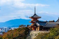 W Kyoto Kiyomizu-dera Świątynia, Japonia Fotografia Royalty Free