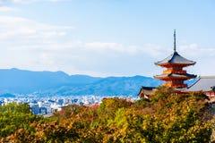 W Kyoto Kiyomizu-dera Świątynia, Japonia Obraz Stock