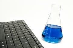 W laboratorium bezprzewodowa klawiatura Fotografia Royalty Free