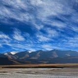 W Ladakh Tso jezioro Kar, Północny India Zdjęcia Royalty Free