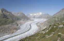 W lato Aletch lodowiec Fotografia Royalty Free