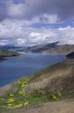 W lato Yamdrok Jezioro Obraz Royalty Free