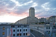w Lausanne Bel-Air wierza Zdjęcia Stock