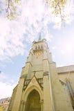 W Lausanne katedry wierza Fotografia Stock