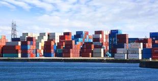 W Le porcie frachtowi zbiorniki Havre. Zdjęcia Stock