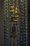 W lekkim tle lampowy kryształ Fotografia Stock