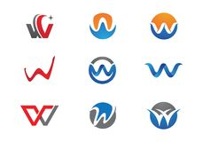 W Letter Logo. Business Template Vector icon Royalty Free Stock Photo