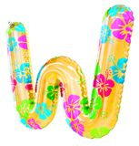 `W` letter shaped balloon Royalty Free Stock Images