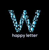 W letter water bubbles  vector logo. W letter bubbles vector logo design element Royalty Free Stock Photos