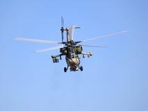 W locie bojowy helikopter Obraz Royalty Free