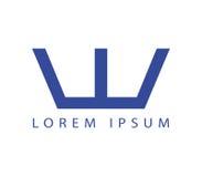 W Logo Design Concept Photos libres de droits