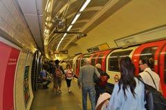 W Londyńskim metrze fotografia stock