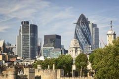 W Londyn architektoniczny skład Fotografia Stock