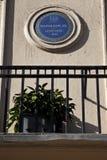 W Londyn Napoleon Plakieta Obrazy Royalty Free
