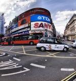 W Londyn Picadilly Cyrk Fotografia Royalty Free