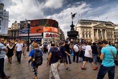 W Londyn Picadilly Cyrk zdjęcie stock