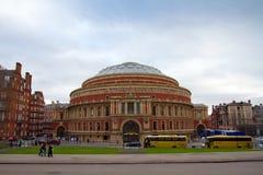 W Londyn sławny Królewski Albert Hall Zdjęcia Royalty Free