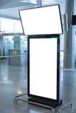 W lotnisku pusty Billboard zdjęcia stock