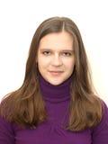 W mądrze przypadkowym piękna młoda kobieta odziewa Obraz Stock