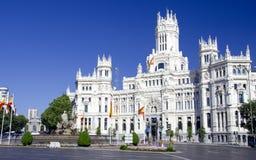 W Madryt Cibeles miejsce, Hiszpania Fotografia Stock