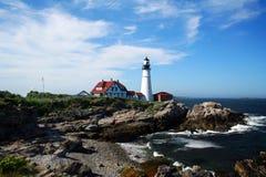 W Maine Kierownicza Portland Latarnia morska Fotografia Royalty Free