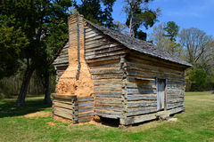 W. Manse George house at Shiloh NMP. Log cabin of W. Manse George in Shiloh National Military Park Stock Photos