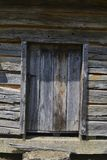 W. Manse George house at Shiloh NMP. Wooden door of W. Manse George cabin in Shiloh National Military Park Stock Photography