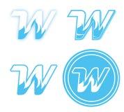 W - Marcagem com ferro quente & logotipo ilustração stock