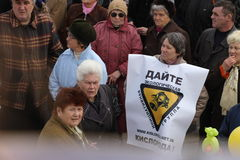 W Mariupol ekologiczna demonstracja, Ukraina Obraz Stock