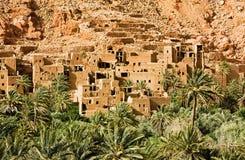 W Maroko Tinghir miasto Fotografia Royalty Free