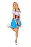 W maskaradowym kostiumu piękna kobieta. zdjęcie royalty free
