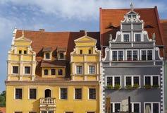 W Meissen's Markt historyczni Domy Fotografia Stock