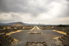 W Meksyk antyczny Teotihuacan Zdjęcia Royalty Free