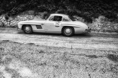 ‰ W 198 1954 MERCEDES-BENZS 300 SL COUPÃ Stockfotos