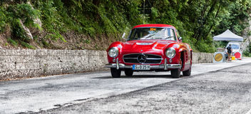 ‰ W 198 1955 MERCEDES-BENZS 300 SL COUPÃ Stockbilder