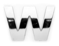 W - Metal letter Royalty Free Stock Image