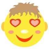 W miłości smiley chłopiec Zdjęcie Royalty Free